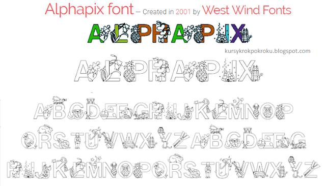 Bezpłatne czcionki alfabet, zwierzęta, kolorowanki - pomoce dydaktyczne do druku