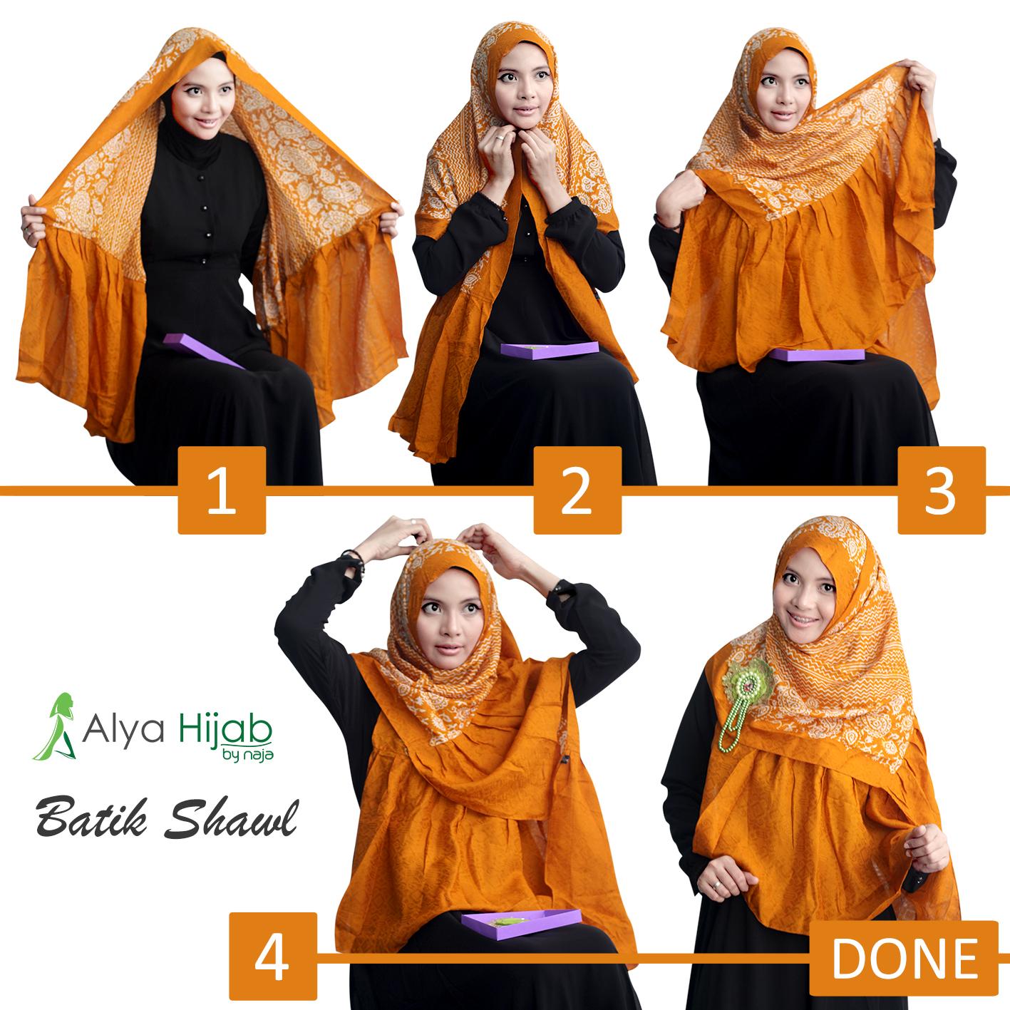 Fasmina Batik Tutorial Hijab Alya Hijab By Naja Jual Hijab Dan