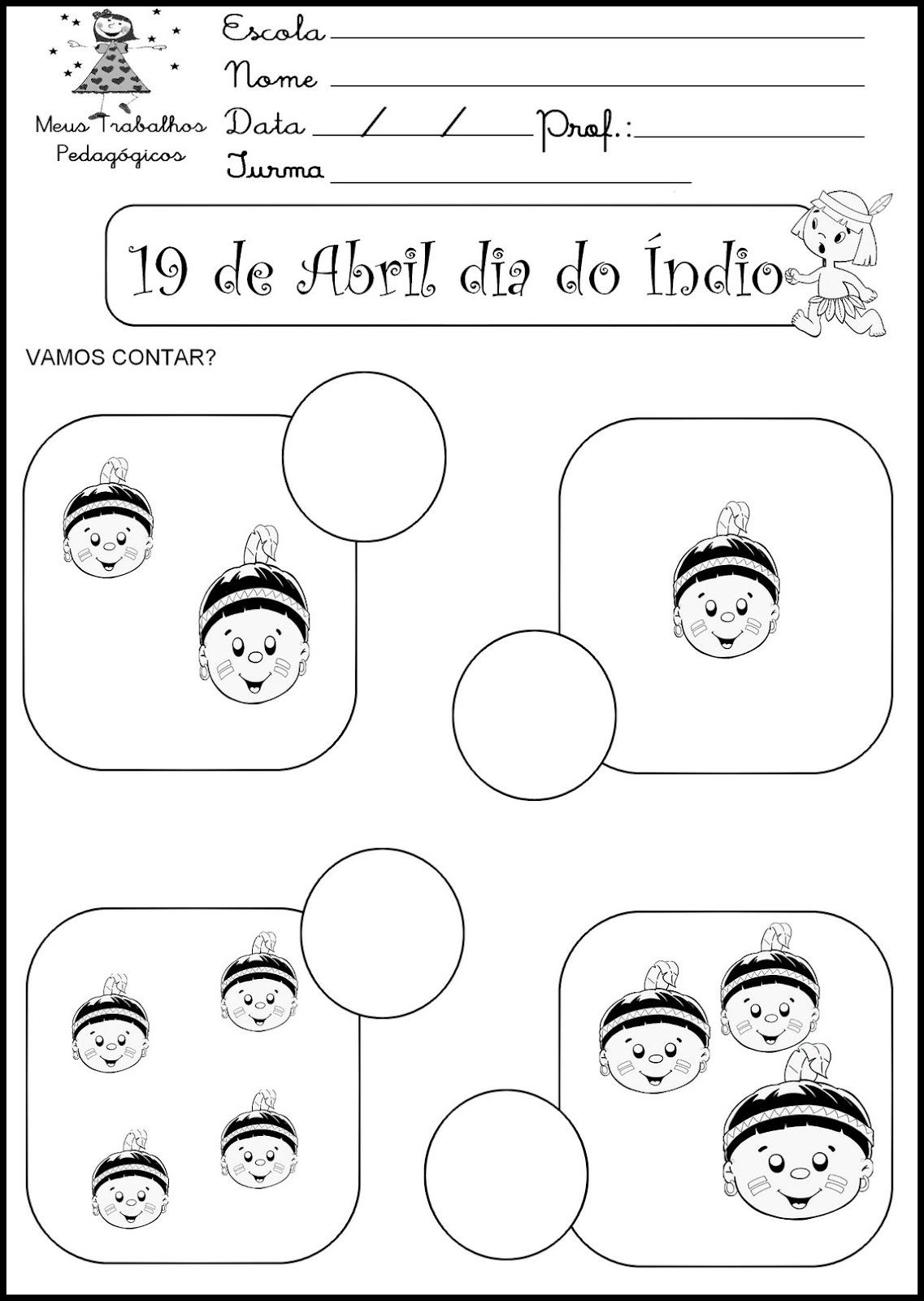 Atividades Para O Dia Do Indio