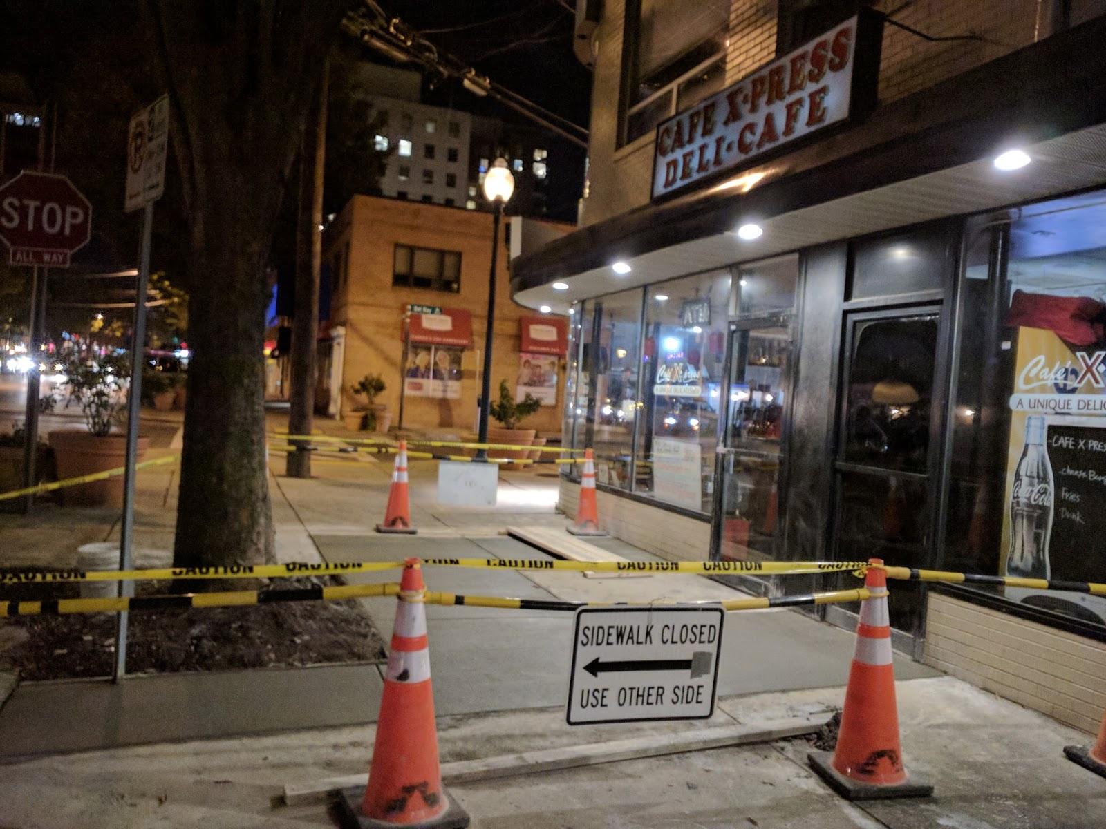 835c3219fc6 More sidewalk repairs have begun in the Woodmont Triangle neighborhood in  Bethesda. Watch for sidewalk closures on several streets