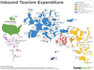 海外旅行 外国人観光客 消費支出額