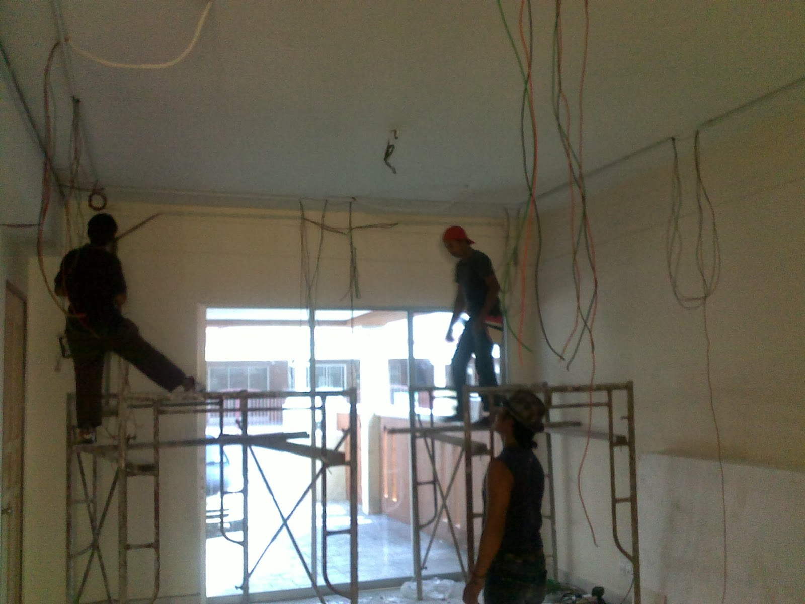 Bila Cornish Da Siap Kontraktor Start Plak Paster Ceiling Kt Ruang Tamu