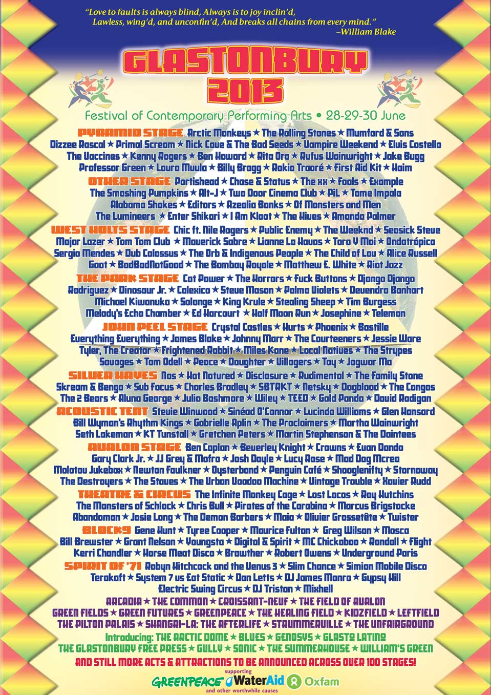 Glastonbury 2013 official line up