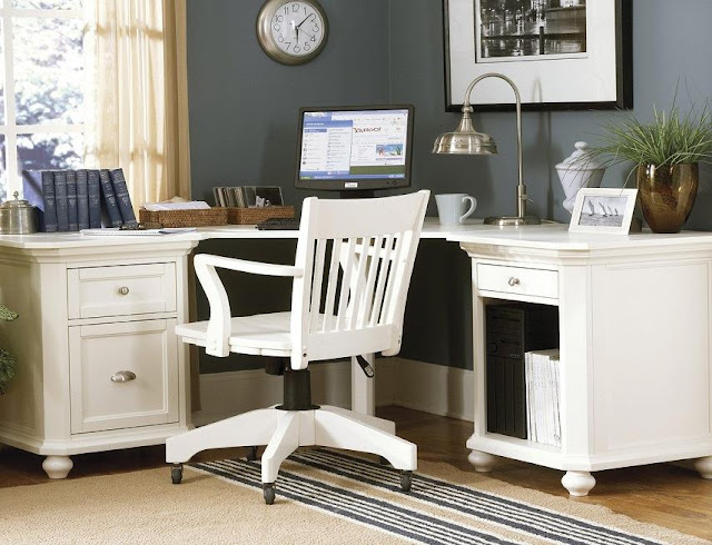best buy white wood office furniture sets for sale online
