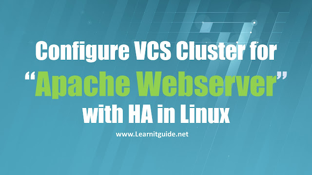 Veritas Cluster Configuration for Apache Webserver on Linux