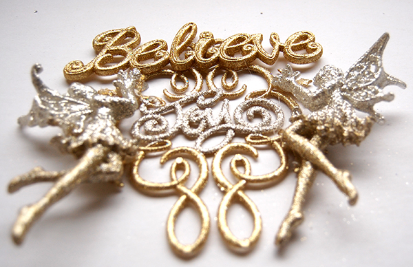 Believe gold and silver christmas wall decor