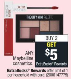 Maybelline cosmetics