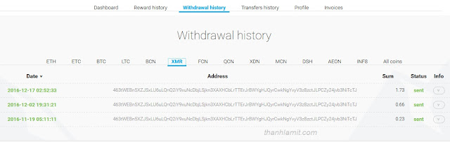 Withdraw Minergate