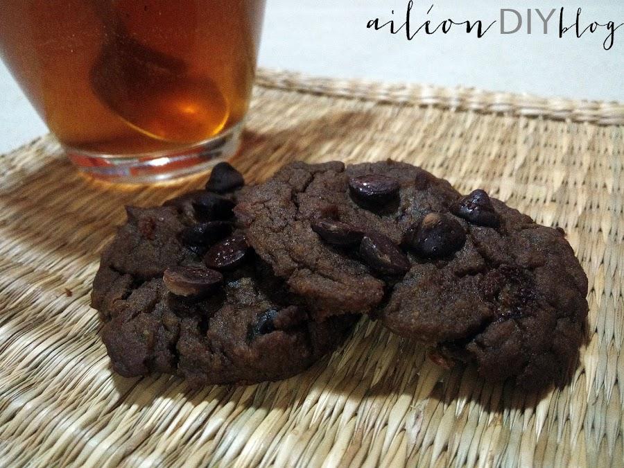 vegan avocado chickpea chocolate cookies