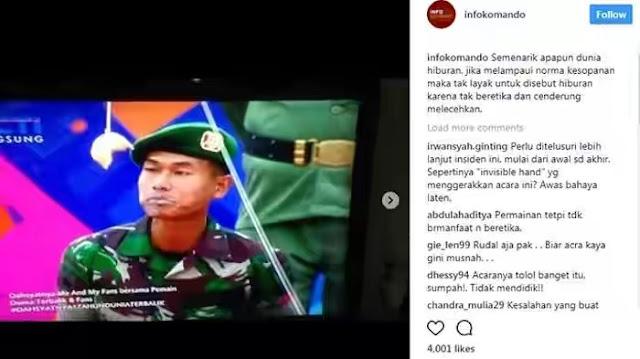 Dinilai Lecehkan TNI, Acara Musik 'Dahsyat' Banjir Kecaman Netizen
