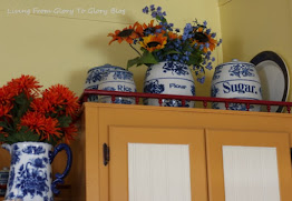 My Grandmothers Blue And White Stoneware