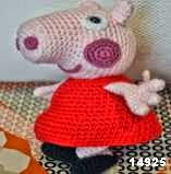 patron gratis peppa pig amigurumi, free pattern amigurumi peppa pig