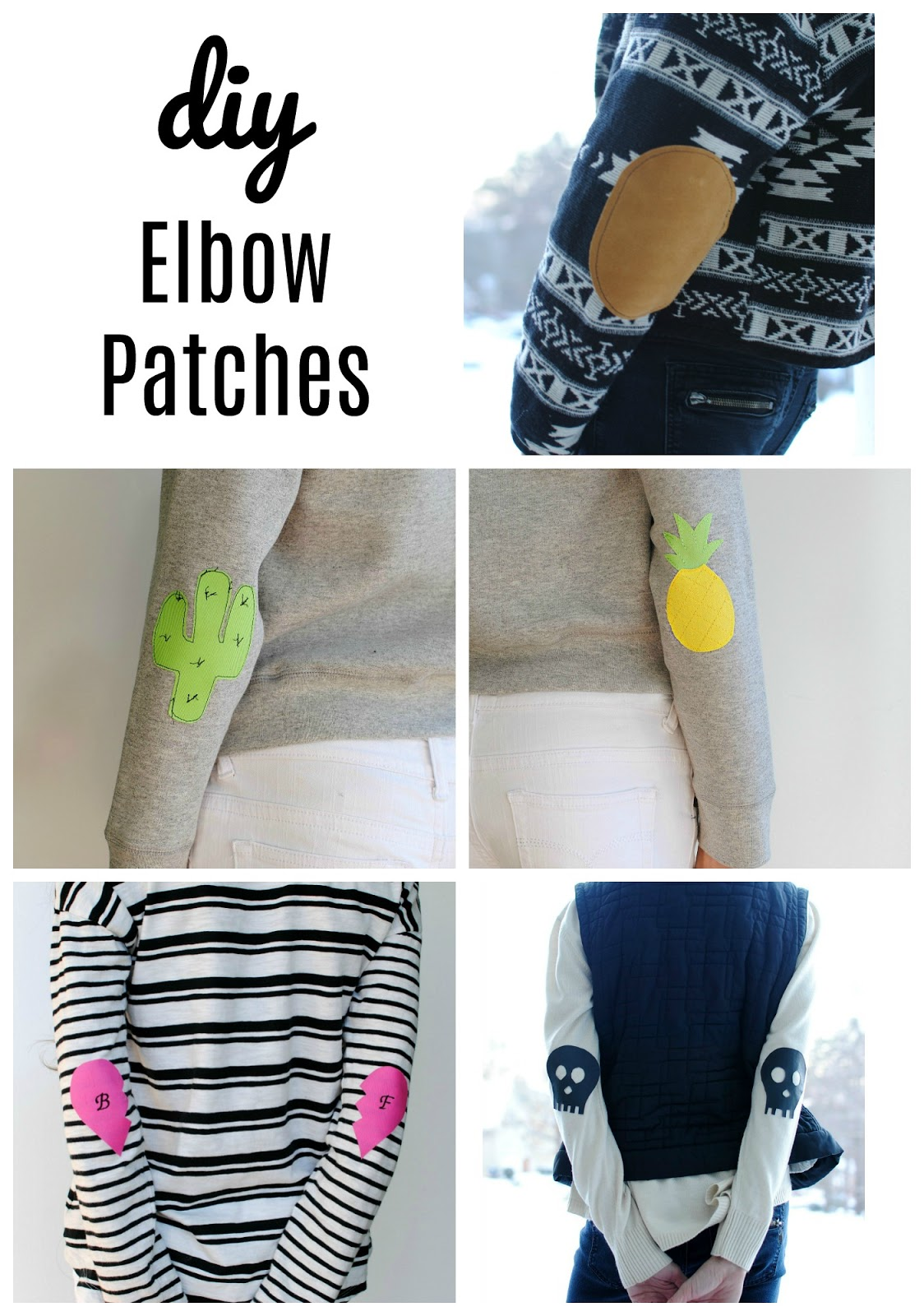 Trash to couture diy elbow patches diy elbow patches maxwellsz