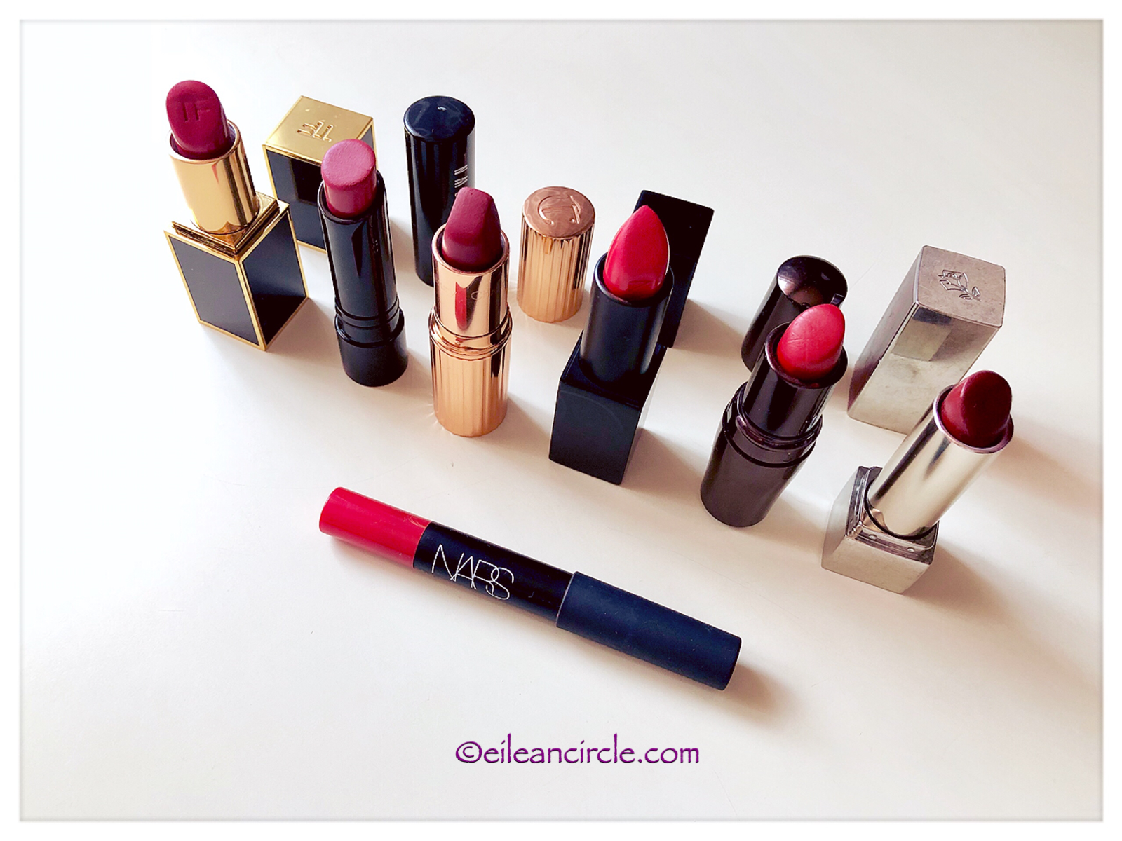 Red Lipstick, Lipstick Collection, Nars, Tom Ford, Charlotte Tilbury, Lâncome