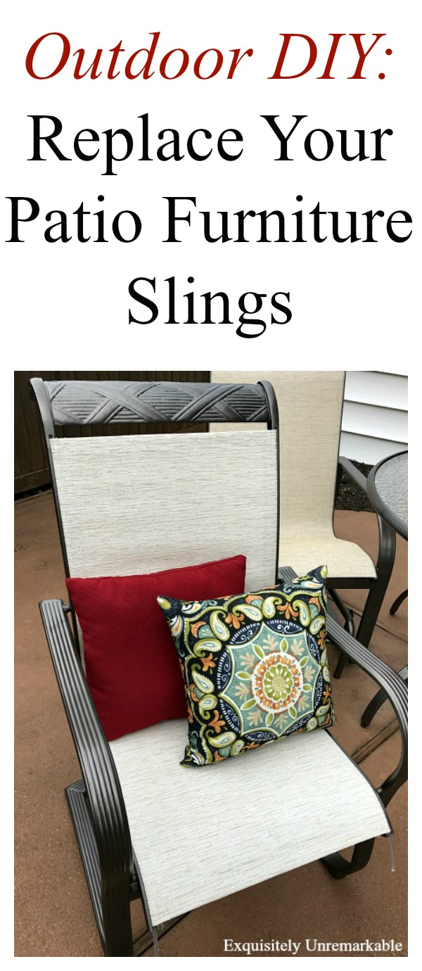 How To Replace Patio Furniture Slings