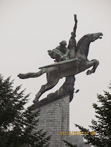 Inspirational 'Flying Horse' statue on Mansudae Hill, Pyongyang