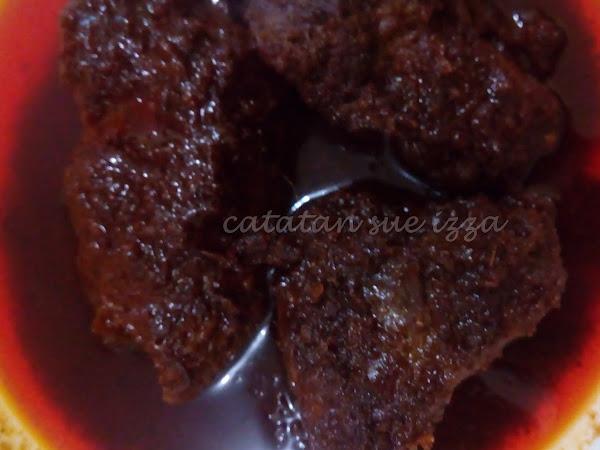 Rendang Daging Hitam : Rendang Warisan Kuala Lipis.