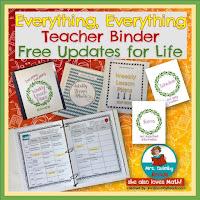 editable teacher binder, teacher binder, weekly lesson planner, back to school