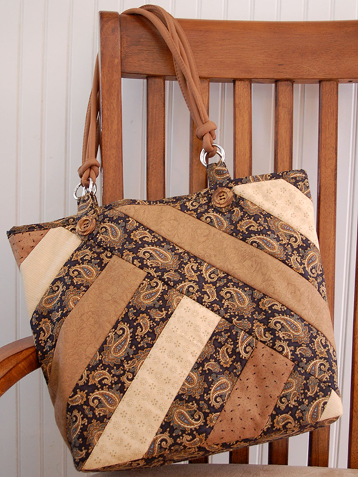 Strips for Stripes Bag Free Pattern