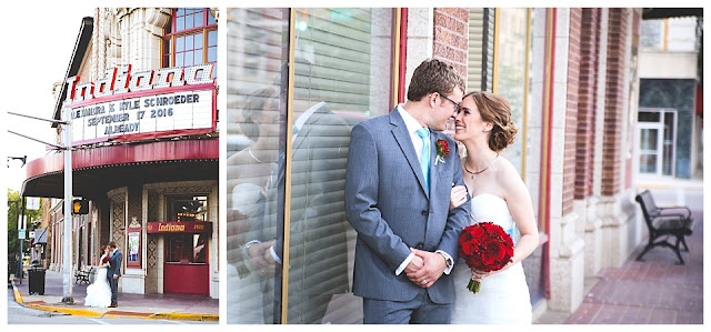 wedding photos at Indiana Theatre