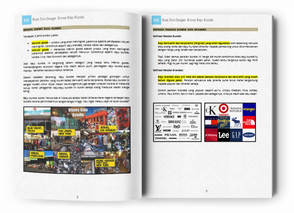 Review Ebook Panduan Bisnes Baju Bundle