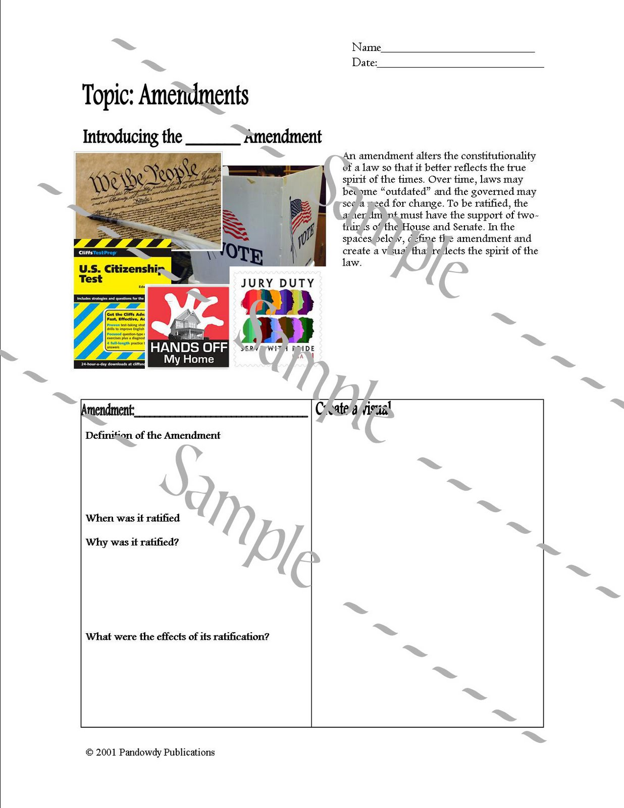Pandowdy Publications Amendments Worksheet