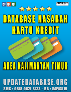 Jual Database Nasabah Kartu Kredit Kalimantan Timur