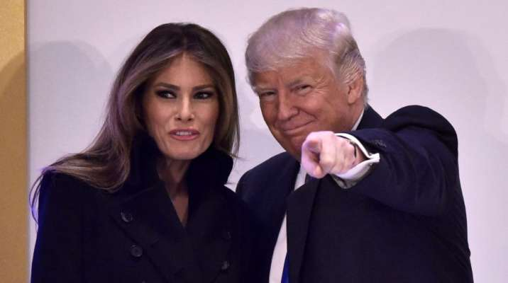 US first lady Melania Trump and President Donald Trump