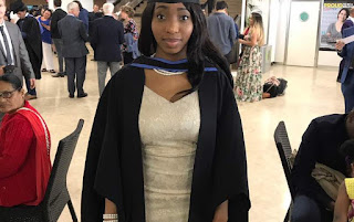 Photos: Beautiful Nigerian lady, Hauwa Umar Usman, bags first class in Aeronautical Engineering from UK university