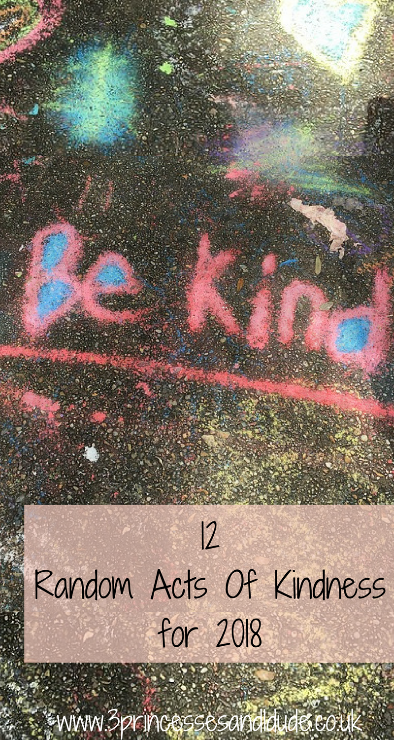 Random acts of kindess for 2018. 12 ideas families can complete.