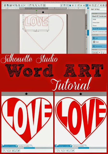 silhouette studio design tutorial, turn word into shape, silhouette cameo tutorial