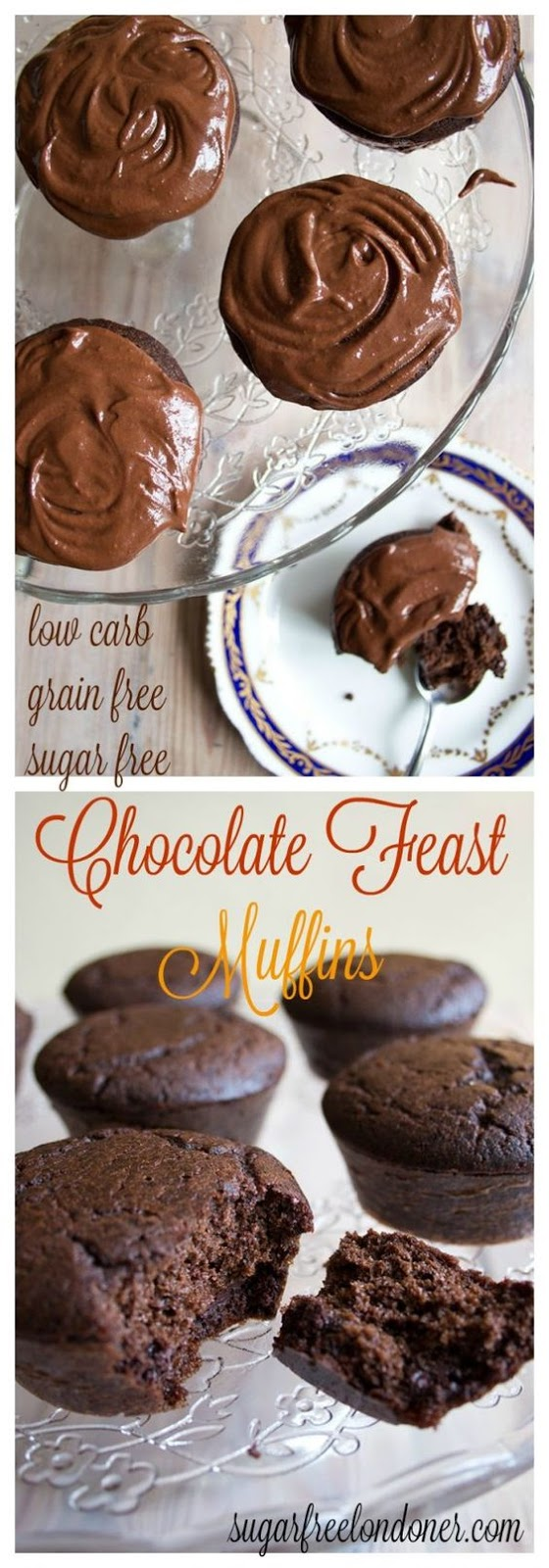 Sugar Free Chocolate Muffins (low carb)