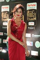 Videesha in Spicy Floor Length Red Sleeveless Gown at IIFA Utsavam Awards 2017  Day 2  Exclusive 35.JPG