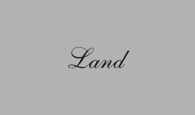 Schriftzug Land