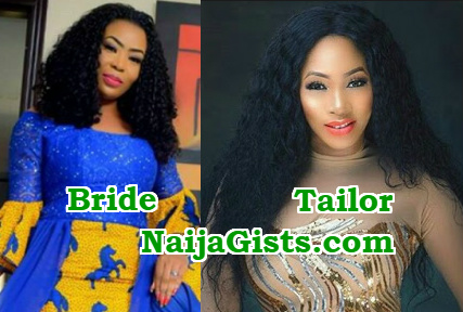 benin bride sues tailor sell wedding dress mercy aigbe