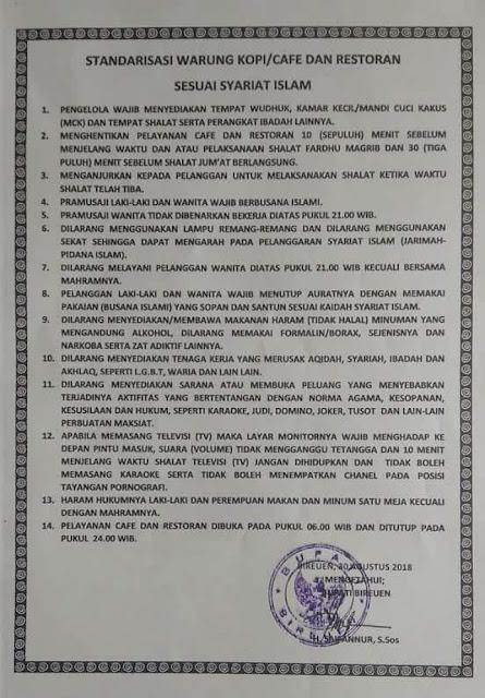 Demi Tegakkan Syariat Islam! Ini 14 Peraturan yang Dibuat Bupati Bireuen