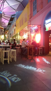 Clarke Quay bar by night