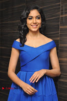 Actress Ritu Varma Pos in Blue Short Dress at Keshava Telugu Movie Audio Launch .COM 0079.jpg