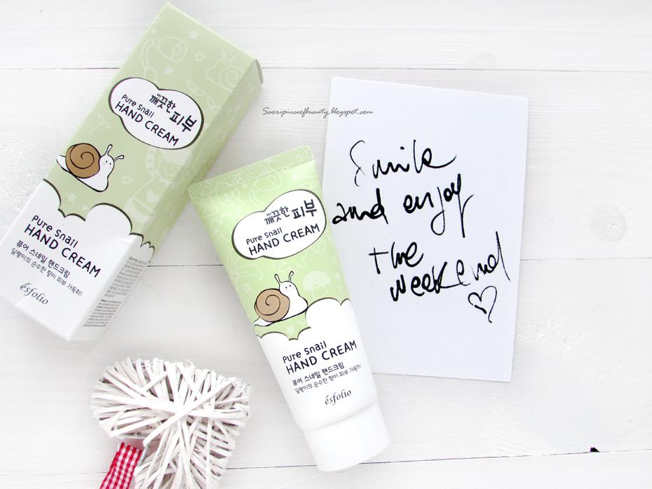Улиточный крем для рук Pure Skin Pure Snail Hand Cream от Esfolio / блог A Piece of beauty