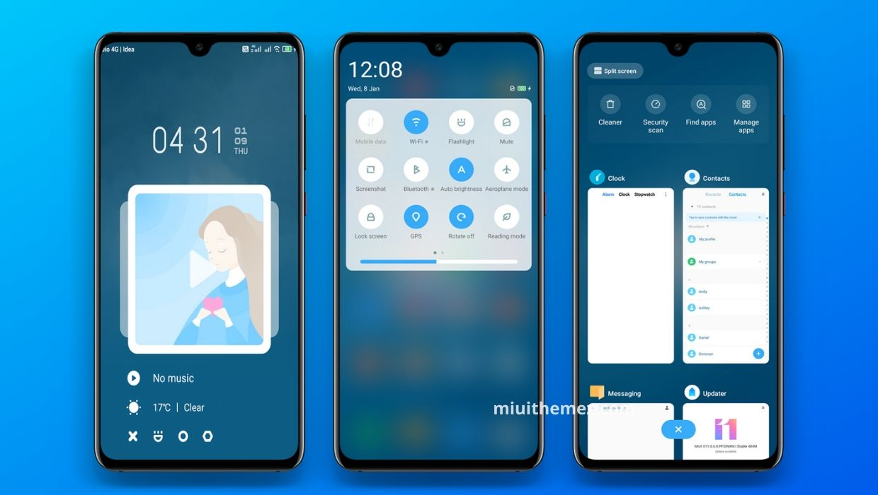 Blue and Grey MIUI Theme