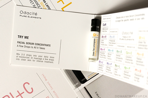Odacité Pure Elements Facial Serum Concentrates
