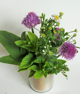 Bunch of cut herbs