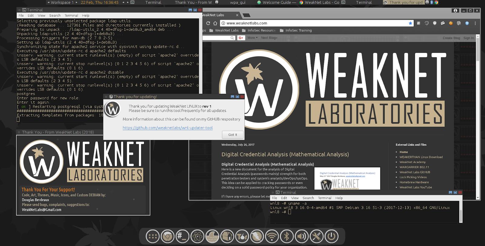 WeakNet Labs: WeakNet LINUX 8 CAFFEINE (x64)