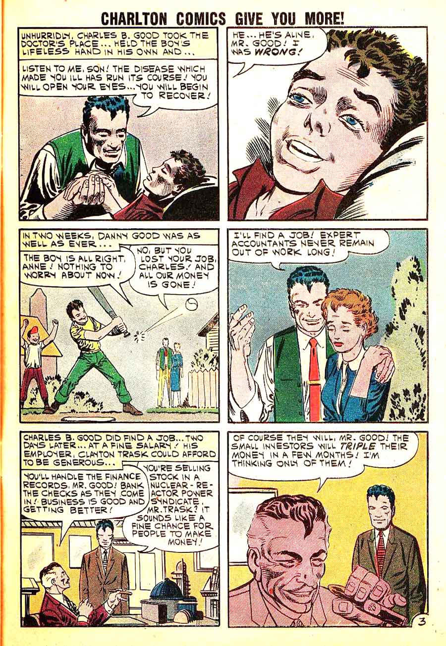 Mysteries of Unexplored Worlds v1 #26 charlton comic book page art by Steve Ditko