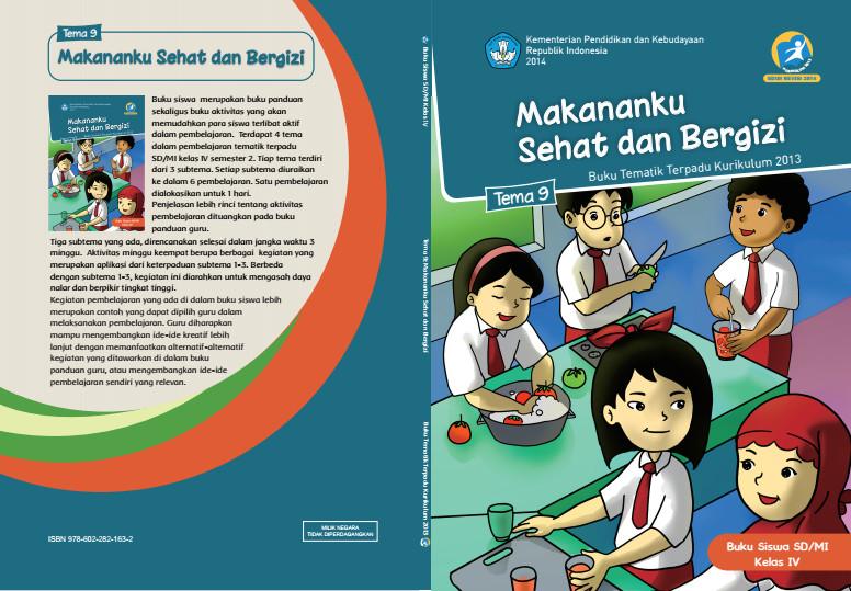 Download Buku Tematik Kurikulum 2013 SD/MI Kelas 4 Tema 9 Makananku Sehat dan Bergizi Edisi Revisi Format PDF