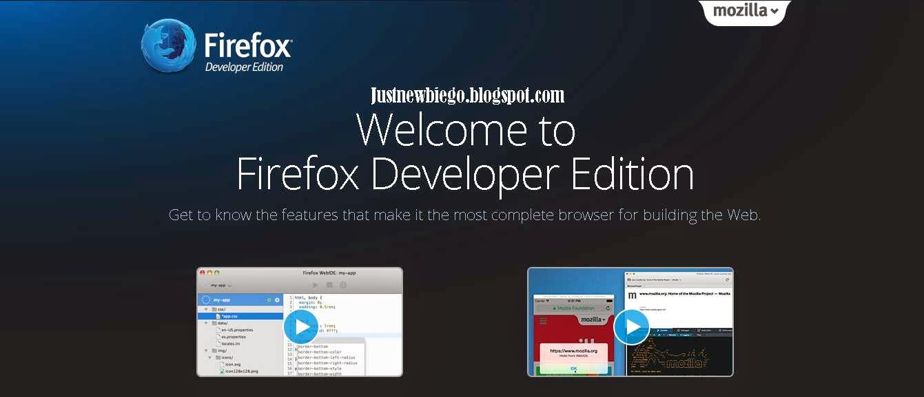 Mozilla Firefox Developer Edition 35.0a2 update terbaru