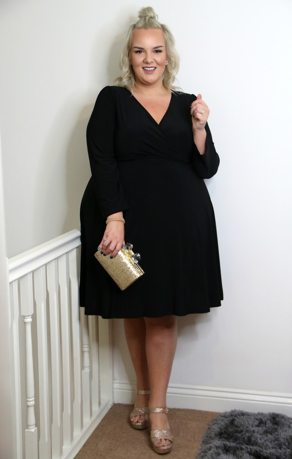 Lady Voluptuous Black Lyra Dress Yours Clothing UK Plus Size Blogger WhatLauraLoves