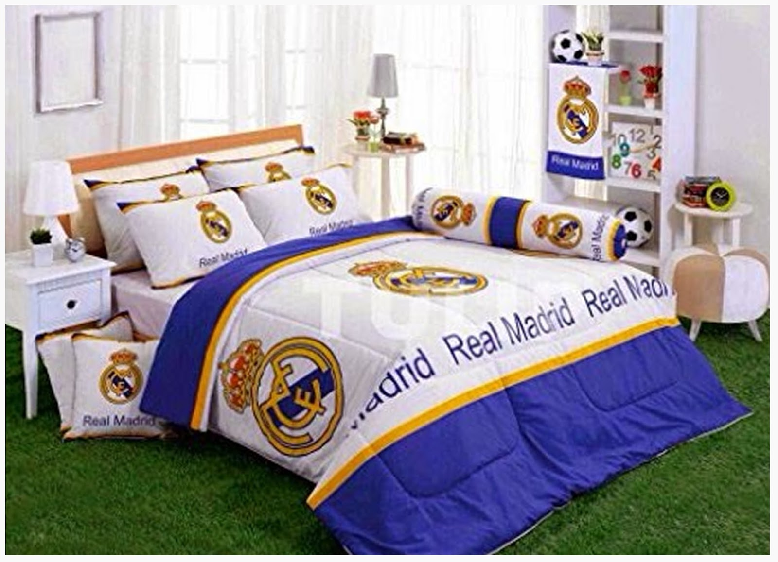 Cool boys bedroom decoration with real madrid theme home for Decoration chambre real madrid