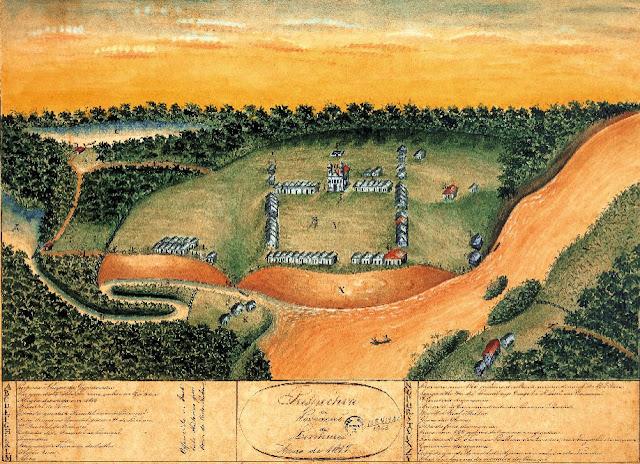 Perspectiva da povoação de Linhares, 1819.