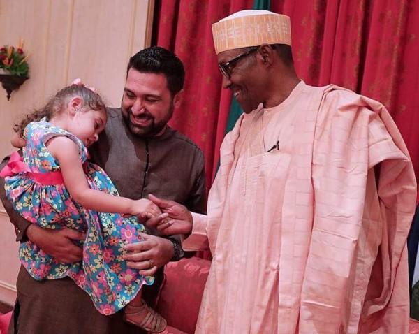 Maya, Aysha & Nicole meet President Buhari